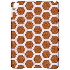 Hexagon2 White Marble & Rusted Metal Apple Ipad Pro 9 7   Hardshell Case by trendistuff
