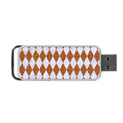 Diamond1 White Marble & Rusted Metal Portable Usb Flash (two Sides) by trendistuff