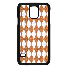Diamond1 White Marble & Rusted Metal Samsung Galaxy S5 Case (black) by trendistuff