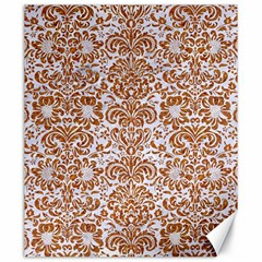 Damask2 White Marble & Rusted Metal (r) Canvas 20  X 24   by trendistuff