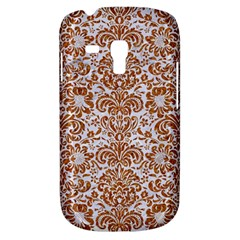 Damask2 White Marble & Rusted Metal (r) Galaxy S3 Mini by trendistuff