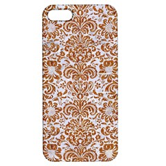 Damask2 White Marble & Rusted Metal (r) Apple Iphone 5 Hardshell Case With Stand by trendistuff
