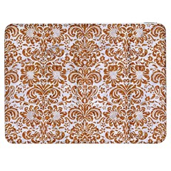 Damask2 White Marble & Rusted Metal (r) Samsung Galaxy Tab 7  P1000 Flip Case by trendistuff