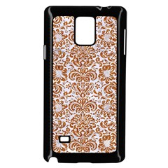 Damask2 White Marble & Rusted Metal (r) Samsung Galaxy Note 4 Case (black) by trendistuff