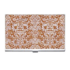 Damask2 White Marble & Rusted Metal Business Card Holders by trendistuff