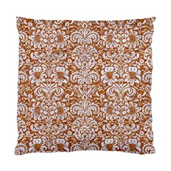 Damask2 White Marble & Rusted Metal Standard Cushion Case (two Sides) by trendistuff