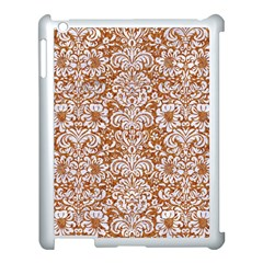 Damask2 White Marble & Rusted Metal Apple Ipad 3/4 Case (white) by trendistuff