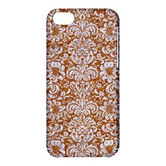 Damask2 White Marble & Rusted Metal Apple Iphone 5c Hardshell Case by trendistuff