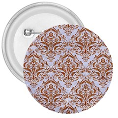 Damask1 White Marble & Rusted Metal (r) 3  Buttons by trendistuff