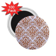 Damask1 White Marble & Rusted Metal (r) 2 25  Magnets (100 Pack)  by trendistuff