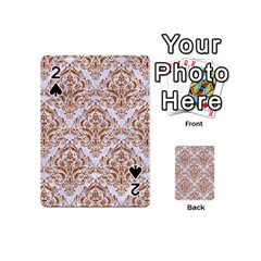 Damask1 White Marble & Rusted Metal (r) Playing Cards 54 (mini)  by trendistuff