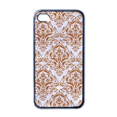 Damask1 White Marble & Rusted Metal (r) Apple Iphone 4 Case (black) by trendistuff