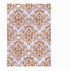 Damask1 White Marble & Rusted Metal (r) Large Garden Flag (two Sides) by trendistuff