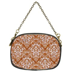 Damask1 White Marble & Rusted Metal Chain Purses (one Side)  by trendistuff