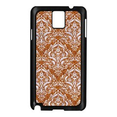 Damask1 White Marble & Rusted Metal Samsung Galaxy Note 3 N9005 Case (black) by trendistuff