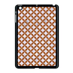 Circles3 White Marble & Rusted Metal (r) Apple Ipad Mini Case (black) by trendistuff