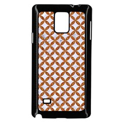 Circles3 White Marble & Rusted Metal (r) Samsung Galaxy Note 4 Case (black) by trendistuff