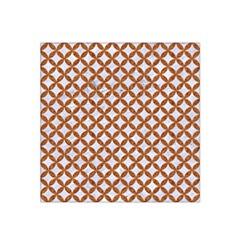 Circles3 White Marble & Rusted Metal (r) Satin Bandana Scarf by trendistuff