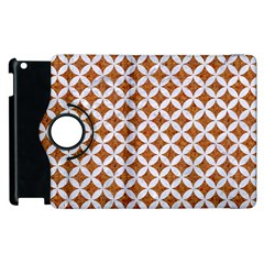 Circles3 White Marble & Rusted Metal Apple Ipad 3/4 Flip 360 Case by trendistuff