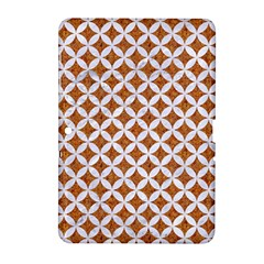 Circles3 White Marble & Rusted Metal Samsung Galaxy Tab 2 (10 1 ) P5100 Hardshell Case  by trendistuff