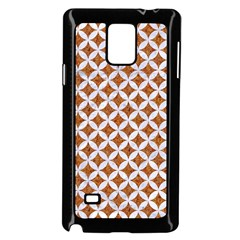 Circles3 White Marble & Rusted Metal Samsung Galaxy Note 4 Case (black) by trendistuff