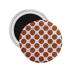 Circles2 White Marble & Rusted Metal (r) 2 25  Magnets by trendistuff