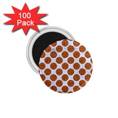 Circles2 White Marble & Rusted Metal (r) 1 75  Magnets (100 Pack)  by trendistuff