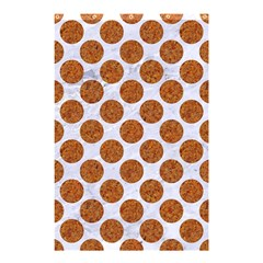 Circles2 White Marble & Rusted Metal (r) Shower Curtain 48  X 72  (small)  by trendistuff