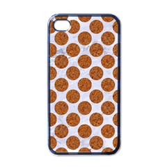Circles2 White Marble & Rusted Metal (r) Apple Iphone 4 Case (black) by trendistuff