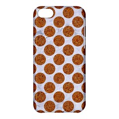 Circles2 White Marble & Rusted Metal (r) Apple Iphone 5c Hardshell Case by trendistuff