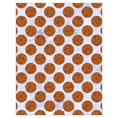 Circles2 White Marble & Rusted Metal (r) Drawstring Bag (large) by trendistuff