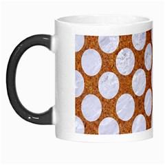 Circles2 White Marble & Rusted Metal Morph Mugs by trendistuff