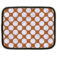 Circles2 White Marble & Rusted Metal Netbook Case (xl)  by trendistuff