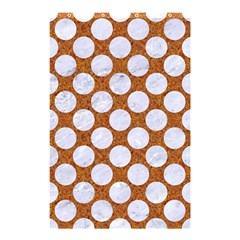 Circles2 White Marble & Rusted Metal Shower Curtain 48  X 72  (small)  by trendistuff