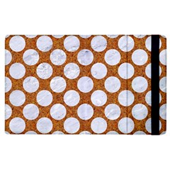 Circles2 White Marble & Rusted Metal Apple Ipad 2 Flip Case by trendistuff
