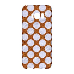Circles2 White Marble & Rusted Metal Samsung Galaxy S8 Hardshell Case  by trendistuff