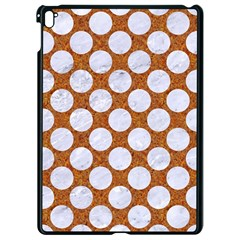 Circles2 White Marble & Rusted Metal Apple Ipad Pro 9 7   Black Seamless Case by trendistuff