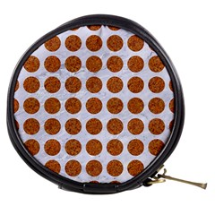Circles1 White Marble & Rusted Metal (r) Mini Makeup Bags by trendistuff