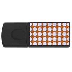 Circles1 White Marble & Rusted Metal Rectangular Usb Flash Drive by trendistuff