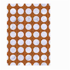 Circles1 White Marble & Rusted Metal Large Garden Flag (two Sides) by trendistuff