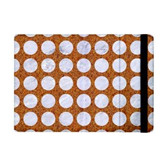 Circles1 White Marble & Rusted Metal Ipad Mini 2 Flip Cases by trendistuff