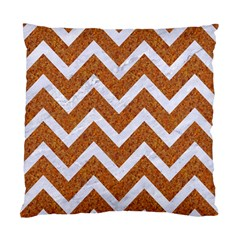 Chevron9 White Marble & Rusted Metal Standard Cushion Case (two Sides) by trendistuff