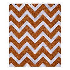 Chevron9 White Marble & Rusted Metal Shower Curtain 60  X 72  (medium)  by trendistuff