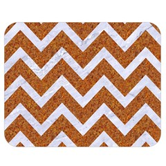 Chevron9 White Marble & Rusted Metal Double Sided Flano Blanket (medium)  by trendistuff