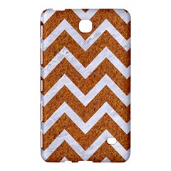 Chevron9 White Marble & Rusted Metal Samsung Galaxy Tab 4 (7 ) Hardshell Case  by trendistuff