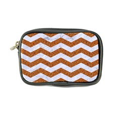 Chevron3 White Marble & Rusted Metal Coin Purse by trendistuff