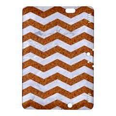 Chevron3 White Marble & Rusted Metal Kindle Fire Hdx 8 9  Hardshell Case by trendistuff