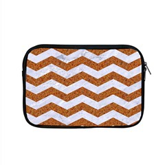 Chevron3 White Marble & Rusted Metal Apple Macbook Pro 15  Zipper Case by trendistuff