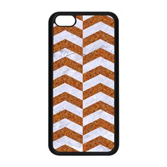 Chevron2 White Marble & Rusted Metal Apple Iphone 5c Seamless Case (black) by trendistuff