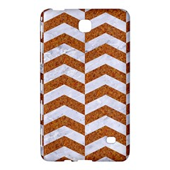 Chevron2 White Marble & Rusted Metal Samsung Galaxy Tab 4 (7 ) Hardshell Case  by trendistuff